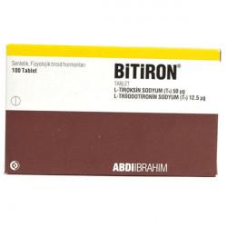 Купить Битирон, Bitiron (аналог Новотирал, Тиреотом) табл. 50 12,5мкг №100 в Санкт-Петербурге