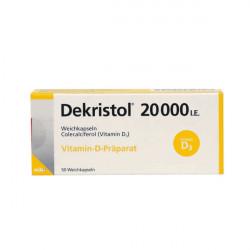 Купить Декристол (Dekristol) 20000 D3 капсулы 50шт/уп в Санкт-Петербурге