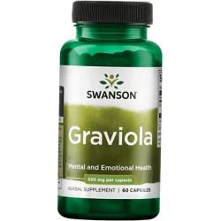 Купить Гравиола (Graviola) в капсулах 530мг Swanson №60 в Санкт-Петербурге