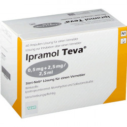 Купить Ипрамол (Ipramol) 0,5мг 2,5мг/2,5мл ампулы для ингаляций №60 в Санкт-Петербурге