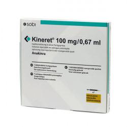 Купить Кинерет, Анакинра р-р для ин. 100 мг №7 в Санкт-Петербурге
