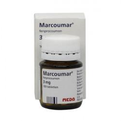 Купить Маркумар (Marcumar, Фенпрокумон) 3мг таблетки 100шт в Санкт-Петербурге