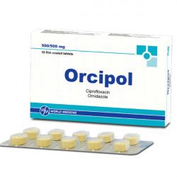 Купить Орципол (Ципрофлоксацин, Орнидазол) таблетки N10  в Санкт-Петербурге