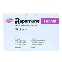 Купить Рапамун (Сиролимус) раствор для приема внутрь 1мг/мл 60мл в Санкт-Петербурге