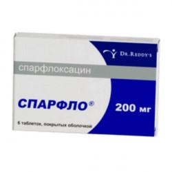 Купить Спарфлоксацин Spar (Флоксимар, Спарфло) 200мг таблетки №6 в Санкт-Петербурге