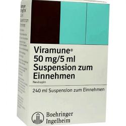 Купить Вирамун (Невирапин) сироп для новорожденных (суспензия) 50мг/5мл 240мл в Санкт-Петербурге